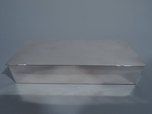 Large Tiffany Sterling Silver Desk Box