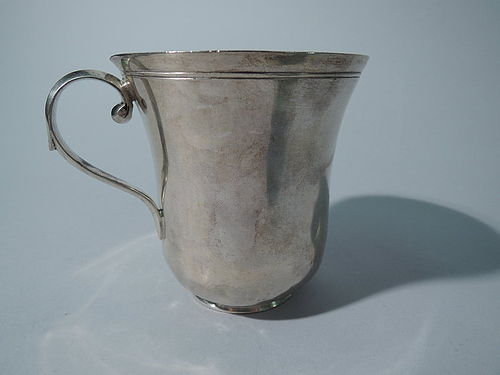 Large Antique Mexican Silver Mug C 1840