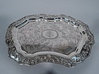 Large & Excellent Chinese Export Silver Salver Tray