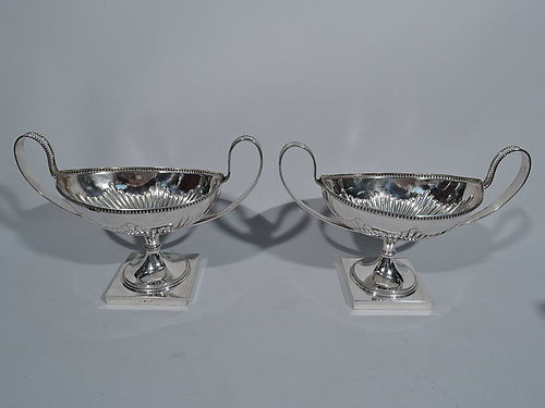 Pair of Swedish Neoclassical Silver Sweet Meat Bowls 1905