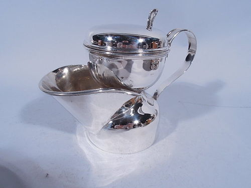 Edwardian English Sterling Silver Shaving Mug