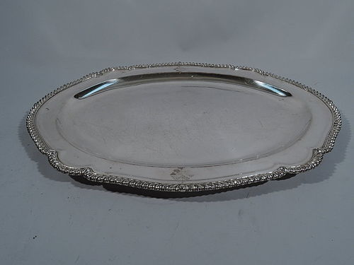 Large English Regency Sheffield Plate Serving Tray