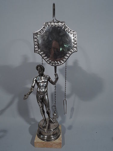 Antique Italian Grand Tour Silver Oil Lamp by Pietro Belli C 1825