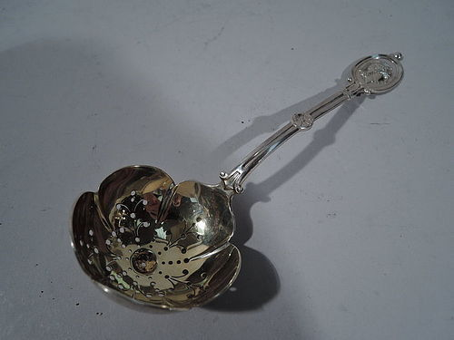 JE Caldwell Medallion Sterling Silver Pierced Spoon
