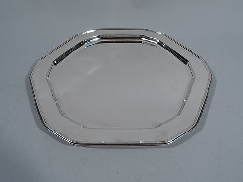 Striking Tiffany Sterling Silver Geometric Tray
