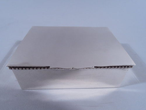 American Hand Made Sterling Silver Box