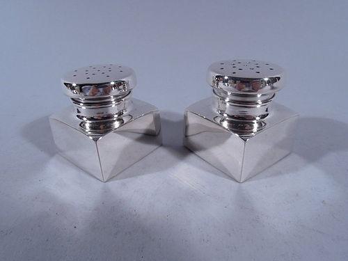Pair of Cartier Modern Sterling Silver Salt & Pepper Shakers