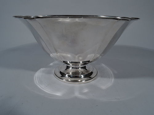 Large Craftsman Sterling Silver Footed Bowl by Arthur Stone