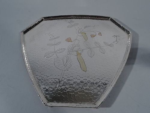Rare & Understated Tiffany Hand Hammered & Mixed Metal Tray