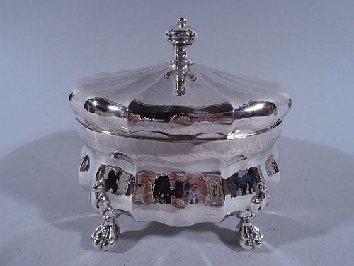 Fine Judaica - Buccellati Hand Hammered Sterling Silver Etrog Box