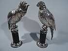 Antique German Silver Parrot Spice Boxes � A Pair of Pretty Pollies