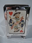 Fine Edwardian English Sterling Silver Playing Cards Box