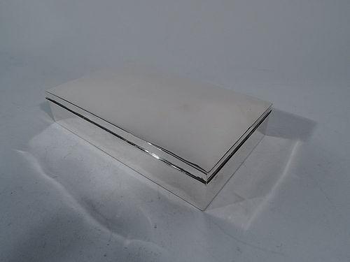 Large American Sterling Silver Desk Box C 1950
