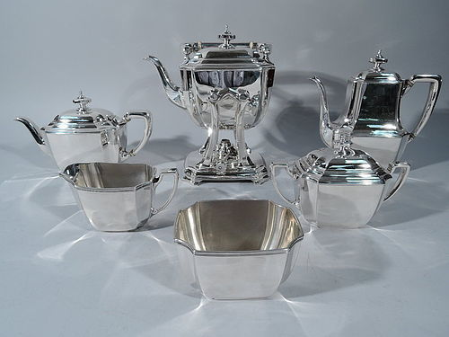 Fine and Elegant Tiffany Sterling Silver Coffee and Tea Set