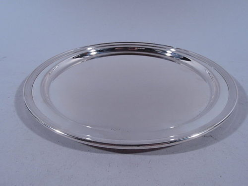 Tiffany Sterling Silver Circular Tray C 1930