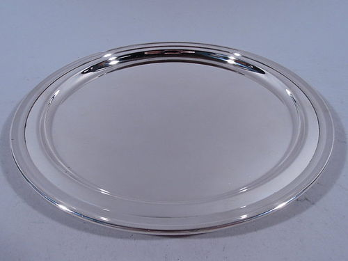Tiffany Sterling Silver Circular Tray C 1930
