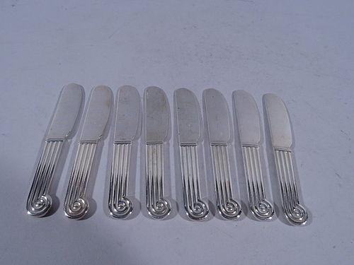 Set of 8 Christofle Classical Silverplate Pâté Knives