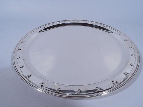 Tiffany Modern Sterling Silver Trefoil Tray