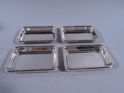 Set of 4 American Modern Sterling Silver Nut Dishes