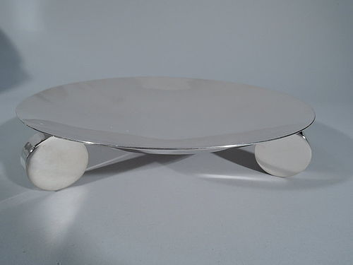 Ultra Modern Sterling Silver Footed Bowl