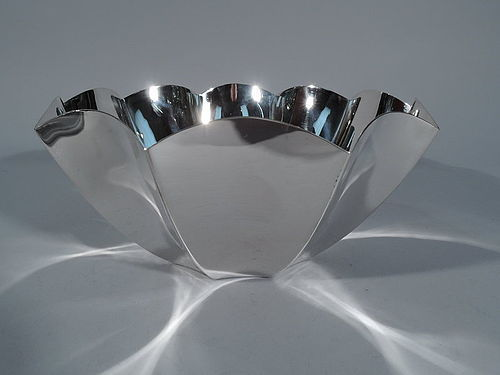 Tiffany Midcentury Modern Sterling Silver Fluted Bowl