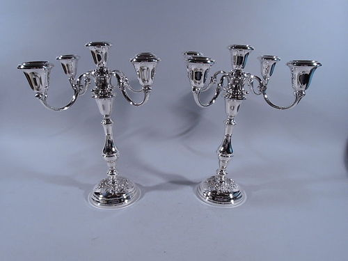 Pair of Gorham Buttercup Sterling Silver 5-Light Candelabra