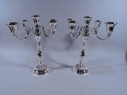 Pair of Gorham Buttercup Sterling Silver 5-Light Candelabra