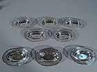 Set of 6 Tiffany Edwardian Sterling Silver Nut Dishes