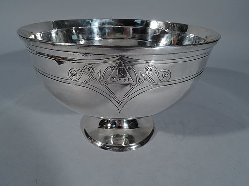 Arthur Stone Sterling Silver Craftsman Compote