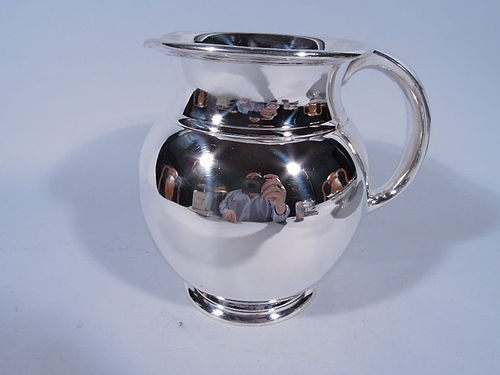 Cartier Midcentury Modern Sterling Silver Water Pitcher