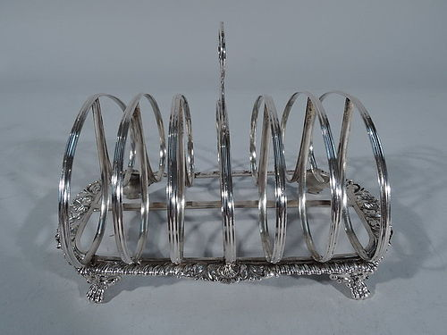 Antique Georgian English Sterling Silver Toast Rack 1814