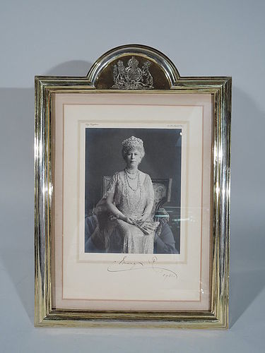 Windsor Matriarch Signed Portrait - Queen Mary in Silver Gilt Frame