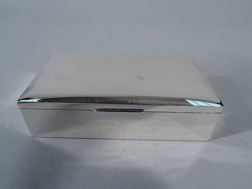 American Modern Sterling Silver Desk Box C 1950