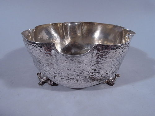 Wood & Hughes Hand-Hammered Sterling Silver Turtle Bowl