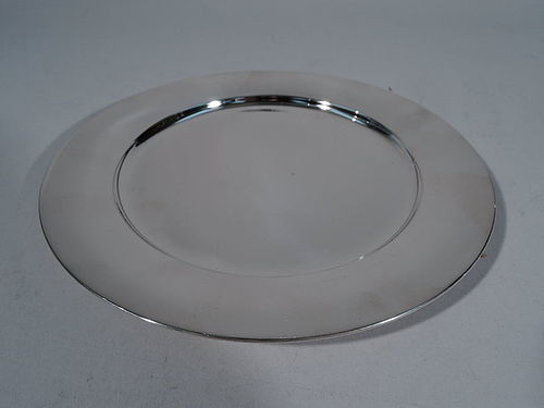 Tiffany Simple and Modern Sterling Silver Tray C 1945