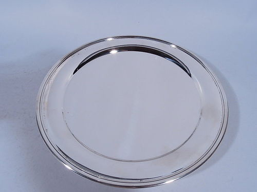 Tiffany American Edwardian Sterling Silver Footed Plate
