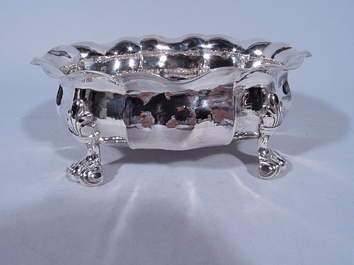 Buccellati Hand Hammered Sterling Silver Classical Footed Bowl