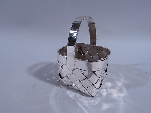 Cartier Sterling Silver Hand Made Country Basket