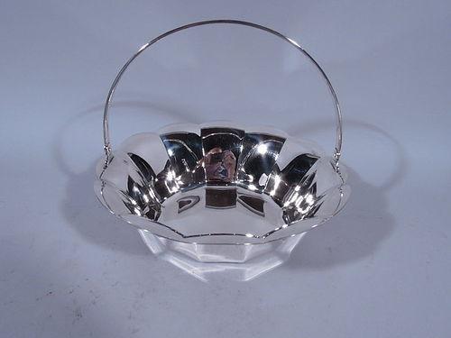 Tiffany American Midcentury Modern Sterling Silver Basket