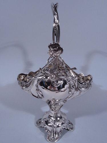 Fabulous Austrian Art Nouveau Silver Basket