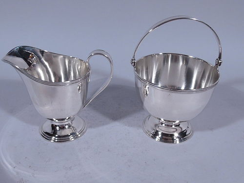 Antique Tiffany Sterling Silver Creamer and Sugar