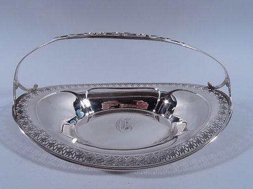 American Edwardian Sterling Silver Basket