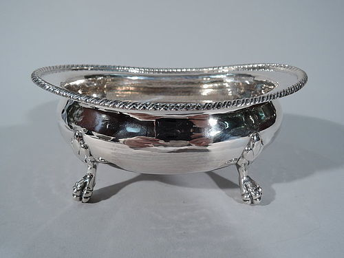 Buccellati Hand-Hammered Sterling Silver Bowl with Claw Feet