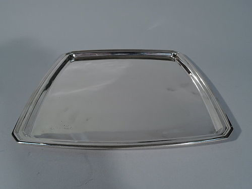 Tiffany Sterling Silver Heavy Square Tray C 1929