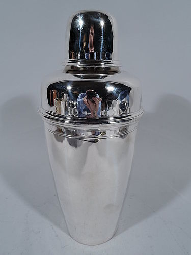 Antique Tiffany Sterling Silver Classic Bullet Cocktail Shaker
