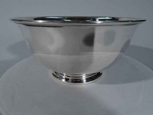 Tiffany Sterling Silver Footed Revere Bowl C 1917