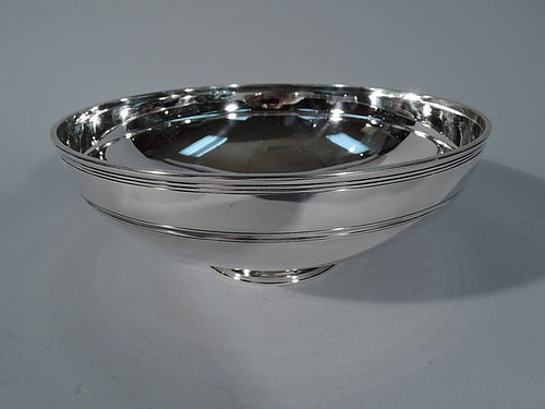 Elegant Sterling Silver Footed Bowl by Tiffany