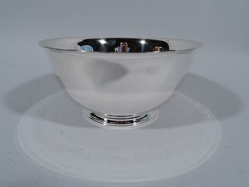 Tiffany Sterling Silver Footed Revere Bowl