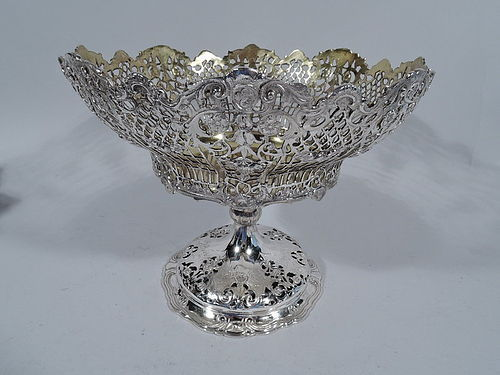 Pretty Antique German Silver Compote