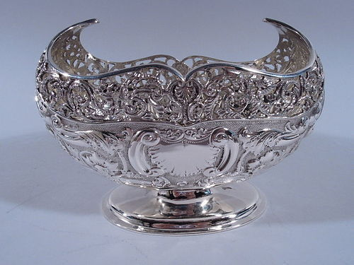 Antique Edwardian English Sterling Silver Sweet Meat Bowl 1904